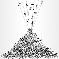 музыка куча нот