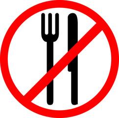 Picto assiette interdit