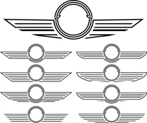 set of insignias. stencils. second variant