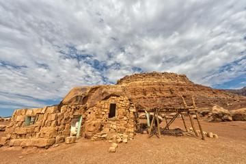 Arizona desert view with red rocks
