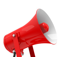 the red megaphone