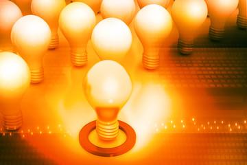 Bright idea or leadership concept
