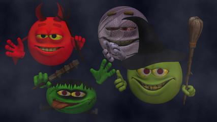 Goofy Monster Smiley Guys