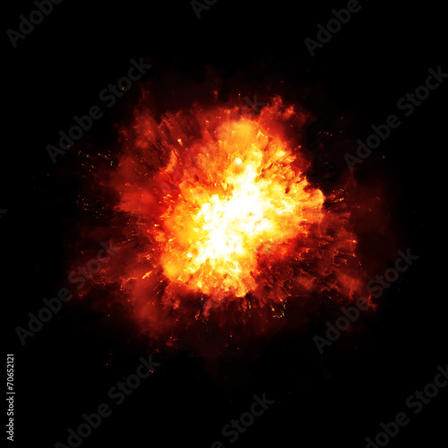 Leinwanddruck Bild explosion fire