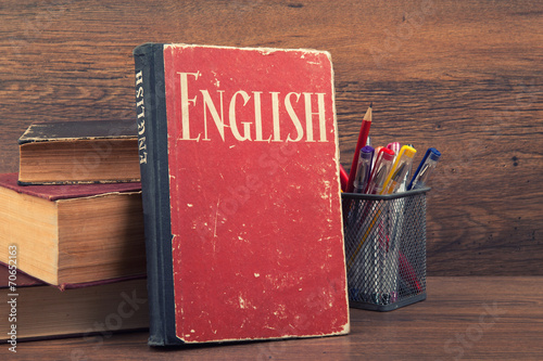Fototapeta samoprzylepna learning english concept