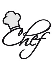 Chef Kochmütze Koch Logo
