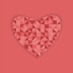 Abstract design with heart for Valentine's Day
