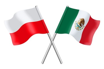Flags: Poland and Mexico