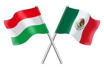 Flags: Hungary and Mexico
