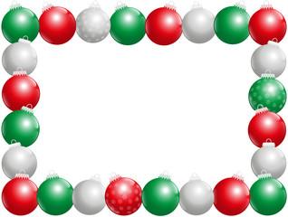 Christmas Balls Frame Horizontal