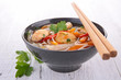 canvas print picture - asia food, noodles soup