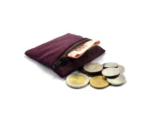 The older thai style coins bag