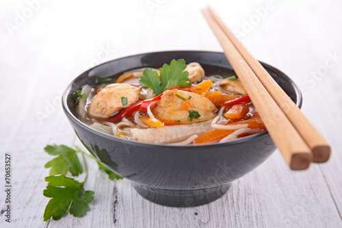 canvas print picture asia food, noodles soup