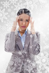 Portrait of a gorgeous businesswoman having a headache