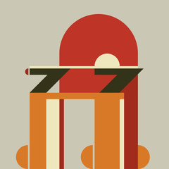Vector chair Flat design style