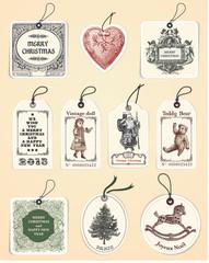 10  Christmas Tags