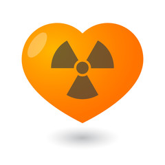 Heart with a radioactivity sign