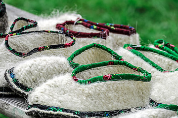 Romanian shoes of peasant