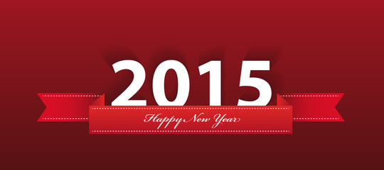2015 year greeting on red background. vector
