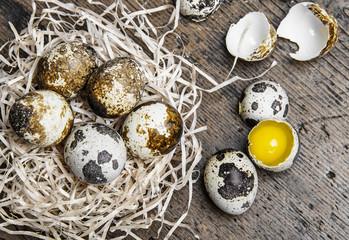 raw fresh quail eggs