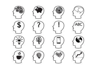 Thinking Head Icon idea