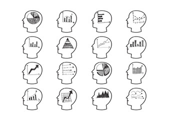Thinking Heads Chart Icons
