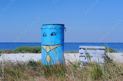 canvas print picture Former Water Tanks and Summer