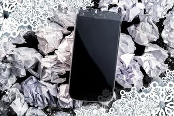 Composite image of smartphone