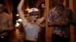 Obrazy na płótnie, fototapety, zdjęcia, fotoobrazy drukowane : Friends running in street after partying all night