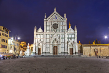 Basilica of Santa Croce at the evening