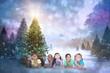 Composite image of cute children