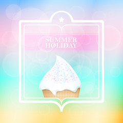 Summer holiday mint abstract background . Vector illustration.