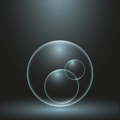 Bubble in the dark
