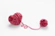 Heart shaped woolen yarn - 70657741