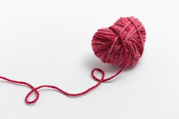 Heart shaped woolen yarn