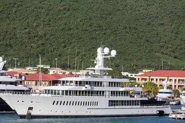 Huge White Luxury Yacht
