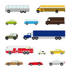 Transport und Automobil Vektor Symbol Set