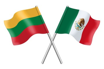 Flags: Lithuania and Mexico