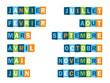 LES MOIS (calendrier saison temps date icônes boutons) - 70658948