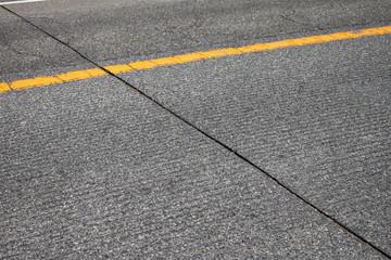 グルービング施工の道路