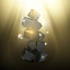 Box pyramid.