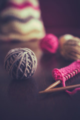 Knitting, old retro vintage style