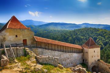 Medieval fortress in Rasnov, Transylvania, Romania