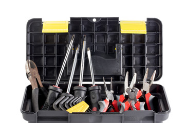 Tools box full of equipments
