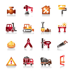 Construction Colorful Icons