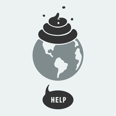 Symbol pollution of the planet