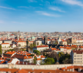 Aerial view of Praha from Prague Castle