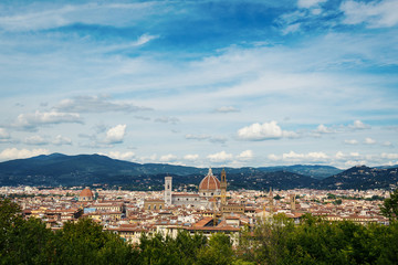 Panoramic view of the city from Forte Belvedere. Florence, Italy