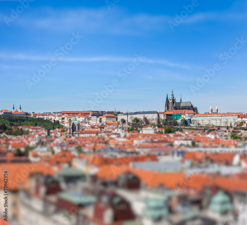 View of Stare Mesto Old City, St. Vitus Cathedral