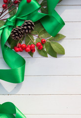 Christmas Ribbon and Berries